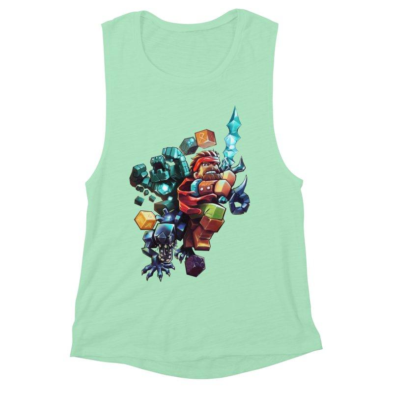 BDcraft Hero, Golem and Alien Women's Muscle Tank by BDcraft Shop
