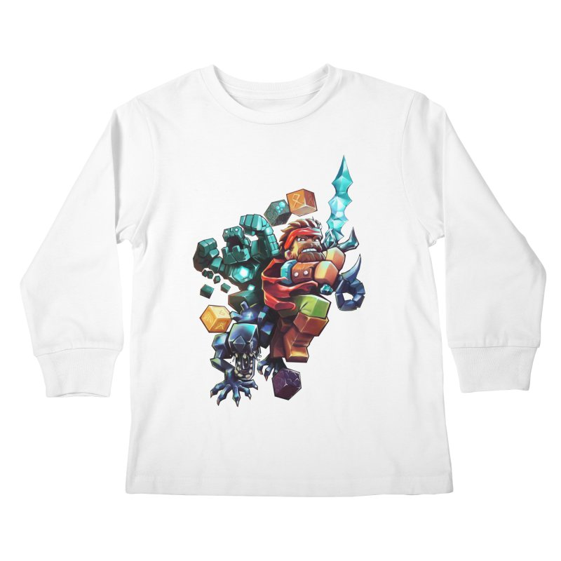 BDcraft Hero, Golem and Alien Kids Longsleeve T-Shirt by BDcraft Shop