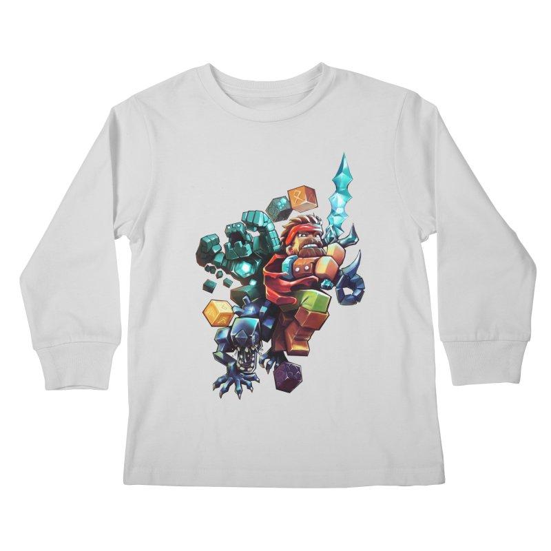 BDcraft Hero, Golem and Alien Kids Longsleeve T-Shirt by BDcraft Shop