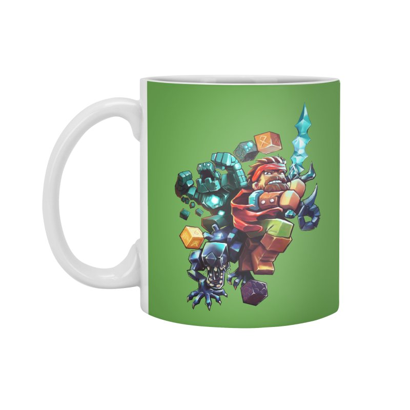 BDcraft Hero, Golem and Alien Accessories Mug by BDcraft Shop