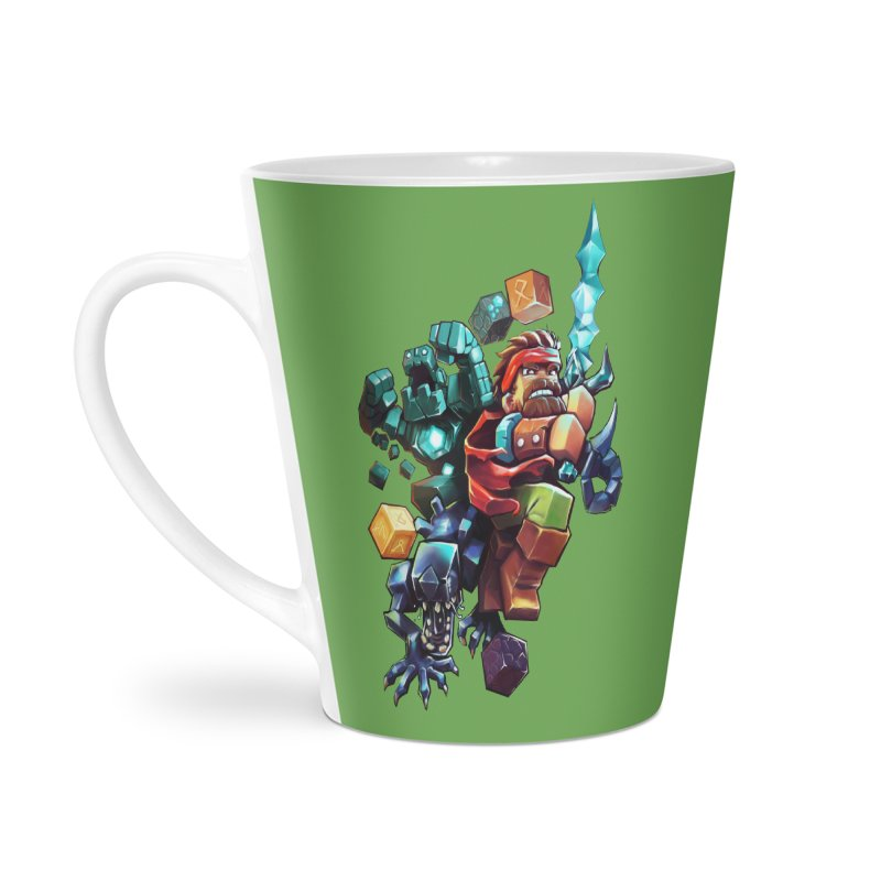 BDcraft Hero, Golem and Alien Accessories Latte Mug by BDcraft Shop