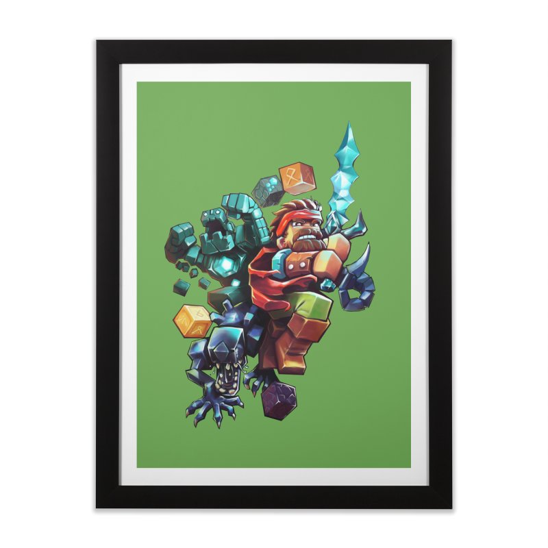 BDcraft Hero, Golem and Alien Home Framed Fine Art Print by BDcraft Shop