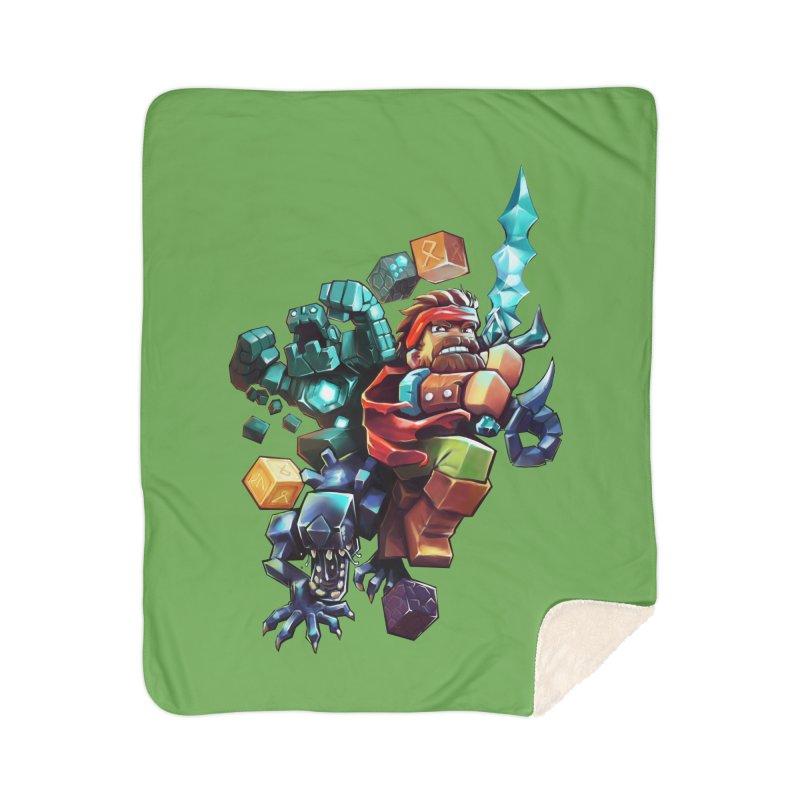 BDcraft Hero, Golem and Alien Home Sherpa Blanket Blanket by BDcraft Shop