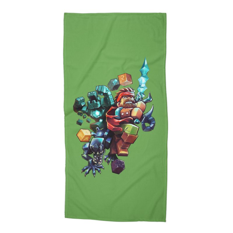 BDcraft Hero, Golem and Alien Accessories Beach Towel by BDcraft Shop