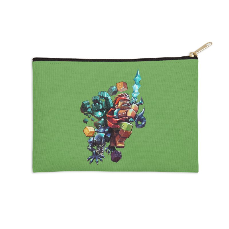 BDcraft Hero, Golem and Alien Accessories Zip Pouch by BDcraft Shop