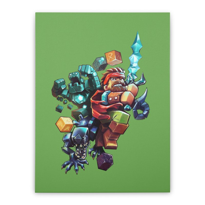 BDcraft Hero, Golem and Alien Home Stretched Canvas by BDcraft Shop