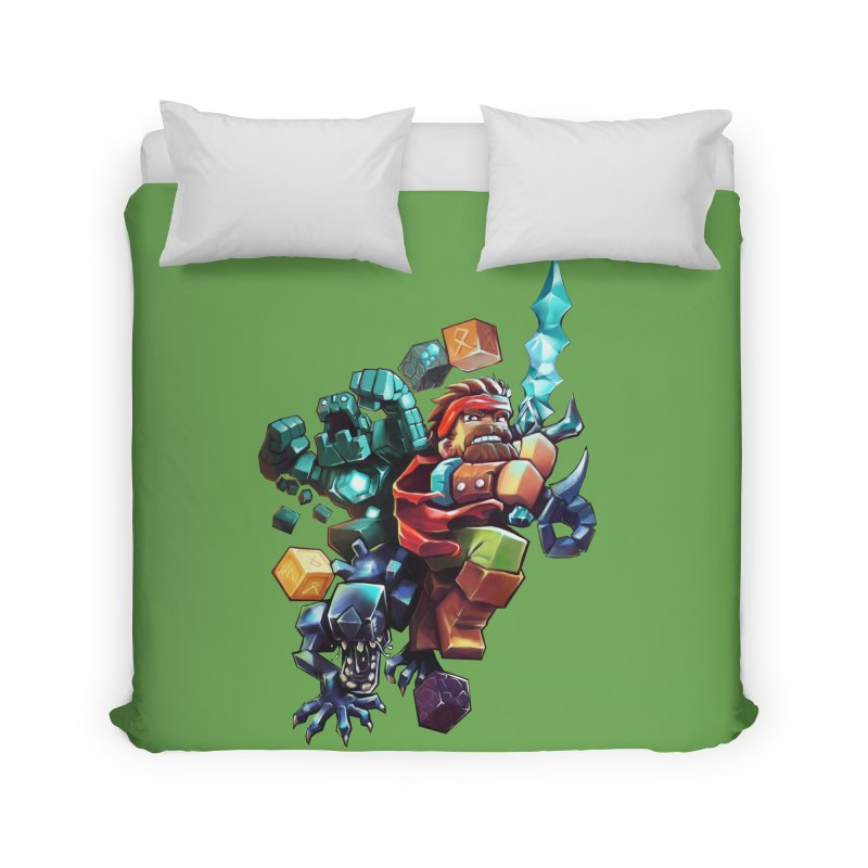 BDcraft Hero, Golem and Alien Home Duvet by BDcraft Shop