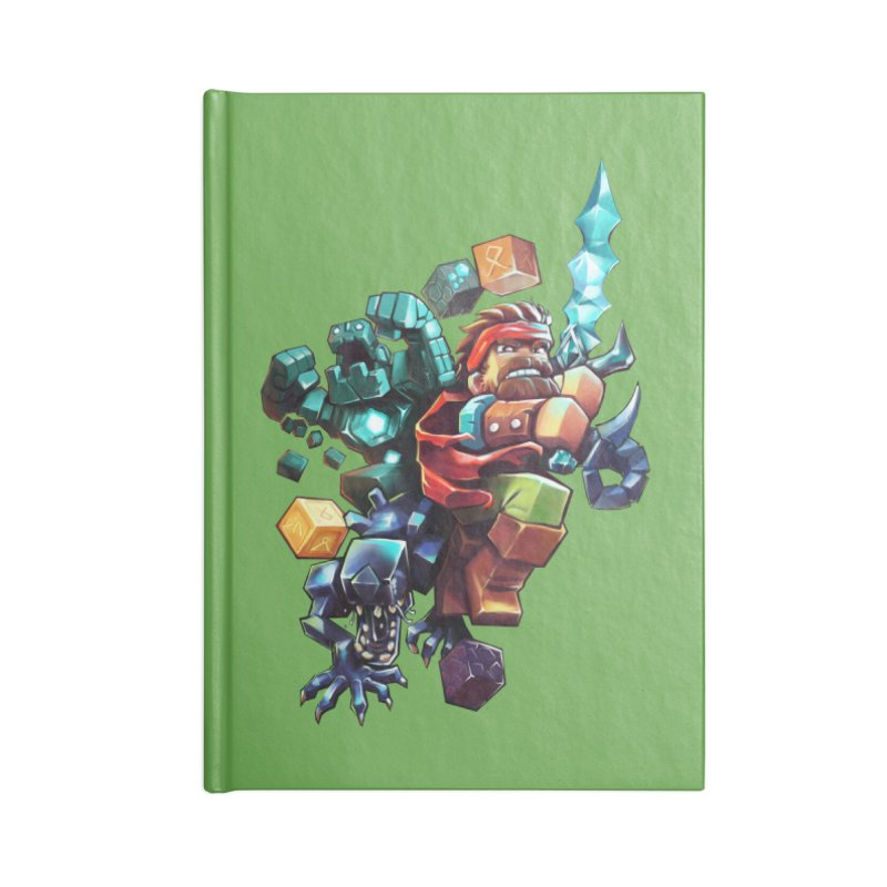 BDcraft Hero, Golem and Alien Accessories Lined Journal Notebook by BDcraft Shop