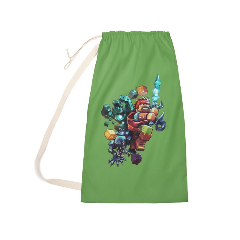 BDcraft Hero, Golem and Alien Accessories Laundry Bag Bag by BDcraft Shop