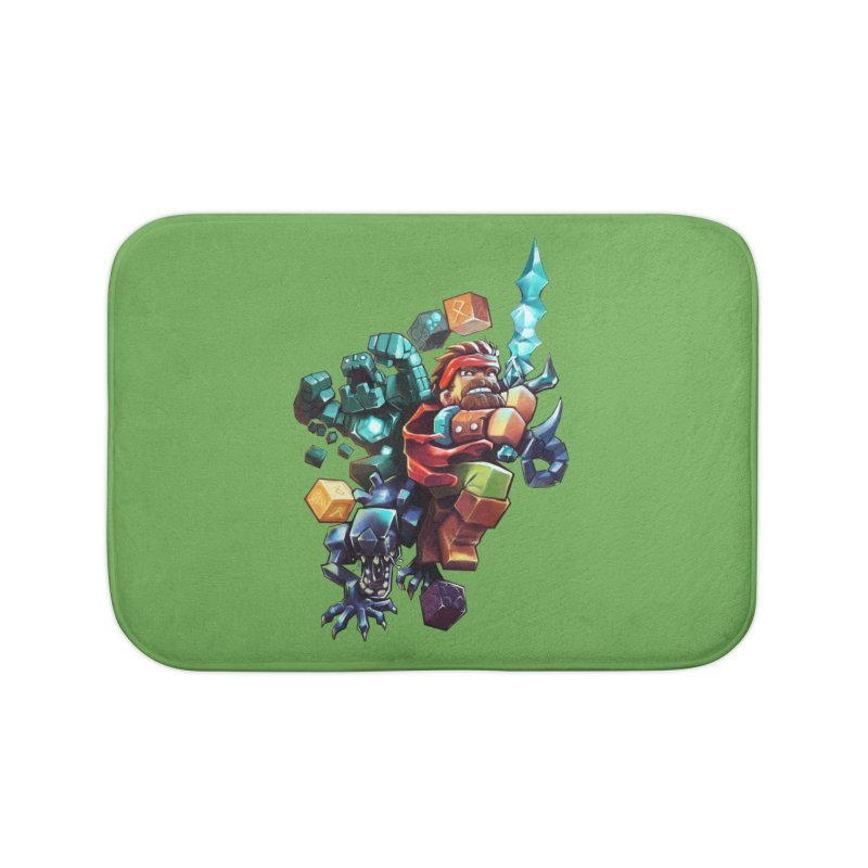 BDcraft Hero, Golem and Alien Home Bath Mat by BDcraft Shop