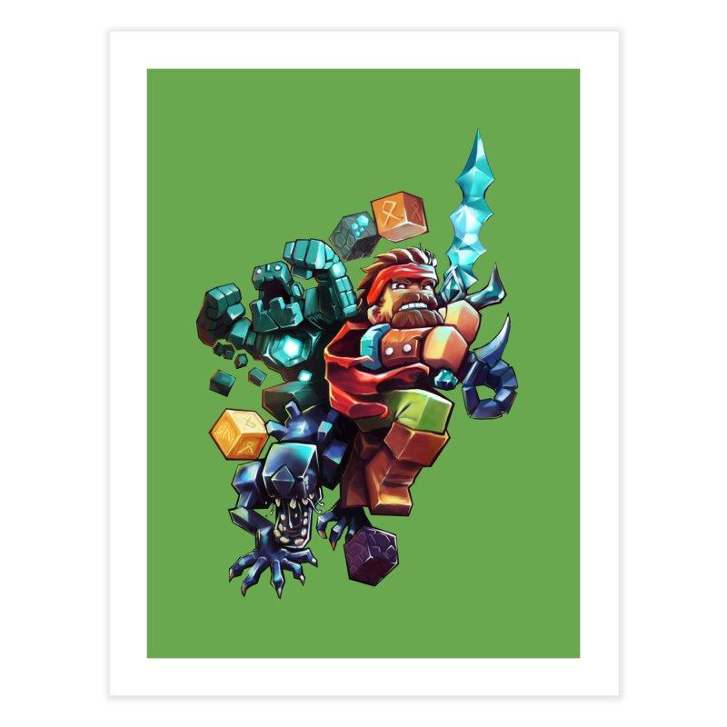 BDcraft Hero, Golem and Alien Home Fine Art Print by BDcraft Shop