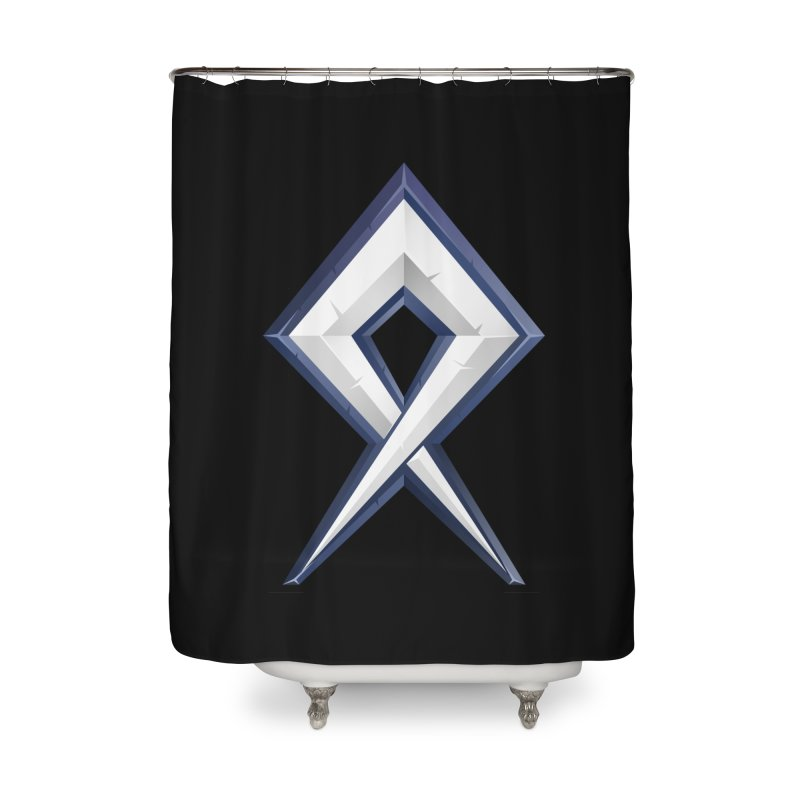 BDcraft Rune Home Shower Curtain by BDcraft Shop