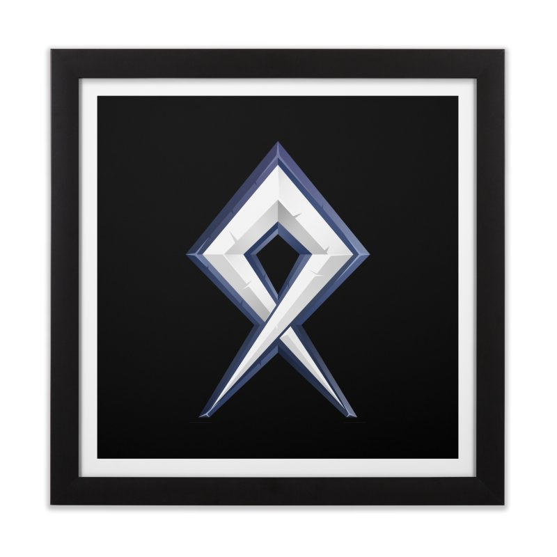 BDcraft Rune Home Framed Fine Art Print by BDcraft Shop