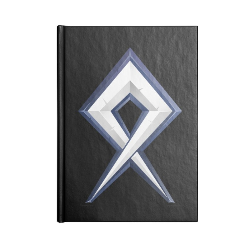 BDcraft Rune Accessories Blank Journal Notebook by BDcraft Shop