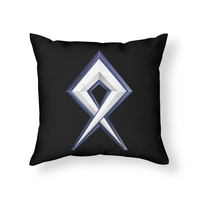 BDcraft Rune Home Throw Pillow by BDcraft Shop