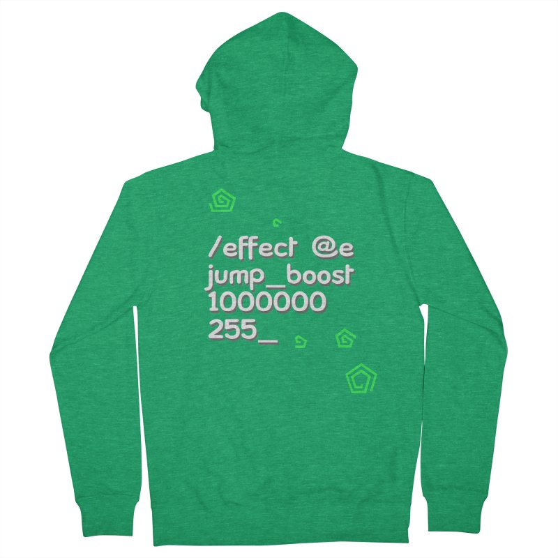 Command Disable Fall Damages Men's Zip-Up Hoody by BDcraft Shop
