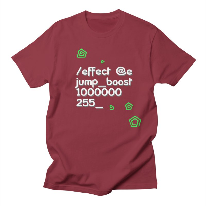 Command Disable Fall Damages Men's Regular T-Shirt by BDcraft Shop