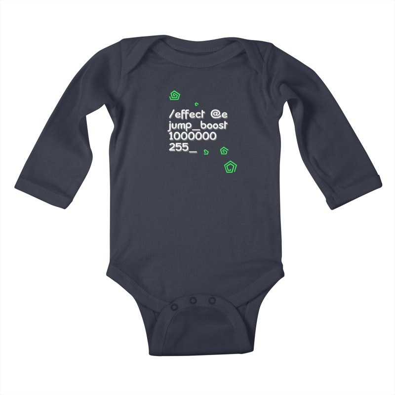 Command Disable Fall Damages Kids Baby Longsleeve Bodysuit by BDcraft Shop