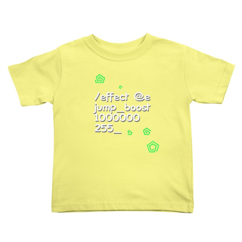 Command Disable Fall Damages Kids Toddler T-Shirt by BDcraft Shop