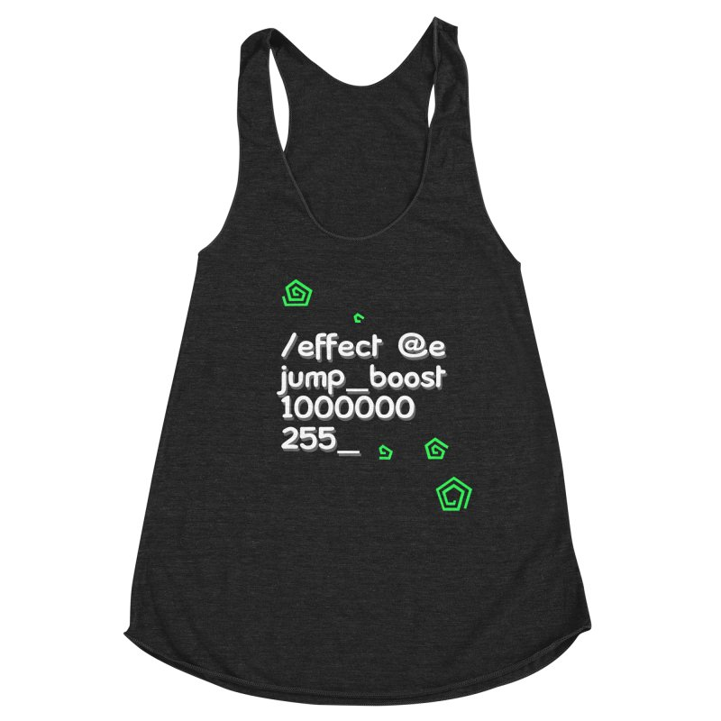 Command Disable Fall Damages Women's Racerback Triblend Tank by BDcraft Shop