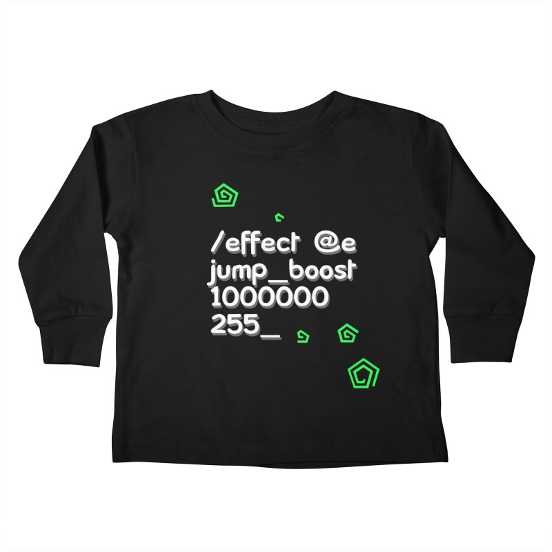 Command Disable Fall Damages Kids Toddler Longsleeve T-Shirt by BDcraft Shop