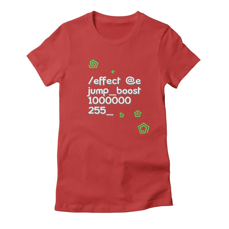 Command Disable Fall Damages Women's Fitted T-Shirt by BDcraft Shop