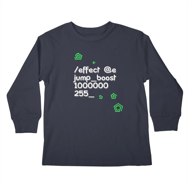 Command Disable Fall Damages Kids Longsleeve T-Shirt by BDcraft Shop