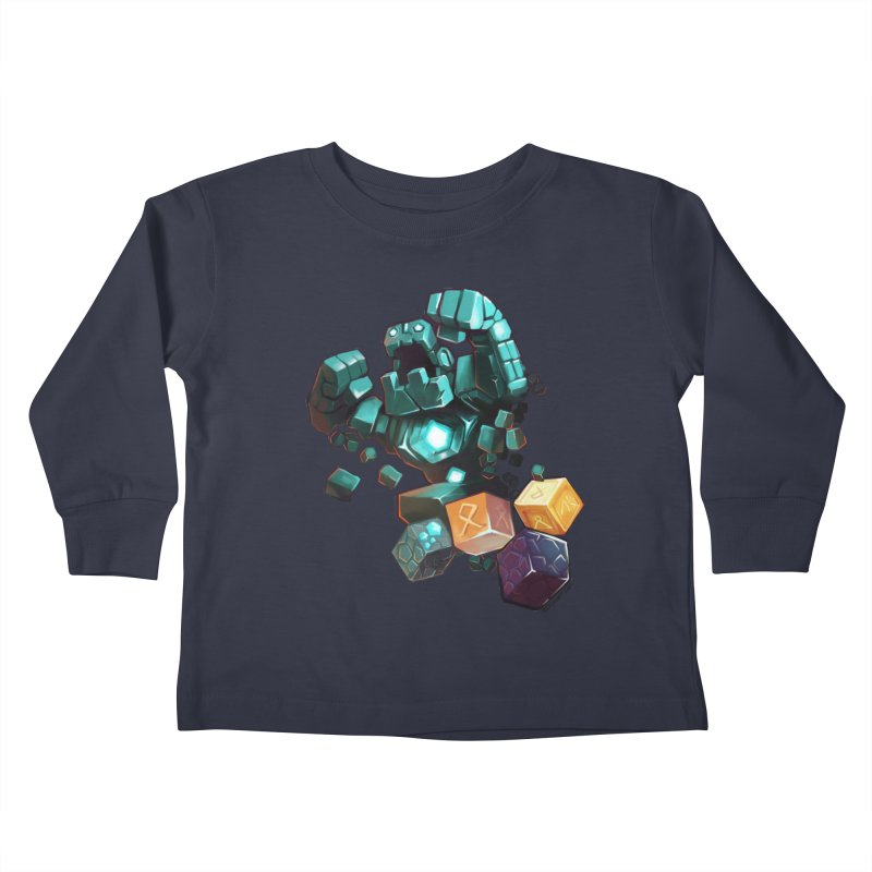 PureBDcraft Golem Kids Toddler Longsleeve T-Shirt by BDcraft Shop