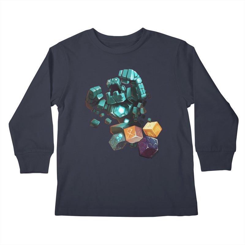 PureBDcraft Golem Kids Longsleeve T-Shirt by BDcraft Shop