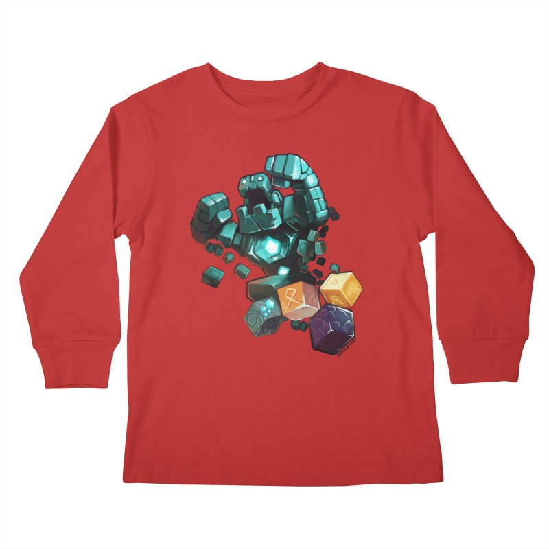 PureBDcraft Golem Kids Longsleeve T-Shirt by BDcraft Shop