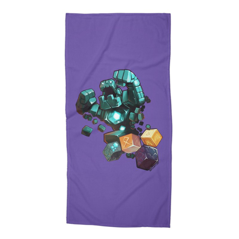PureBDcraft Golem Accessories Beach Towel by BDcraft Shop