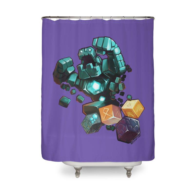 PureBDcraft Golem Home Shower Curtain by BDcraft Shop
