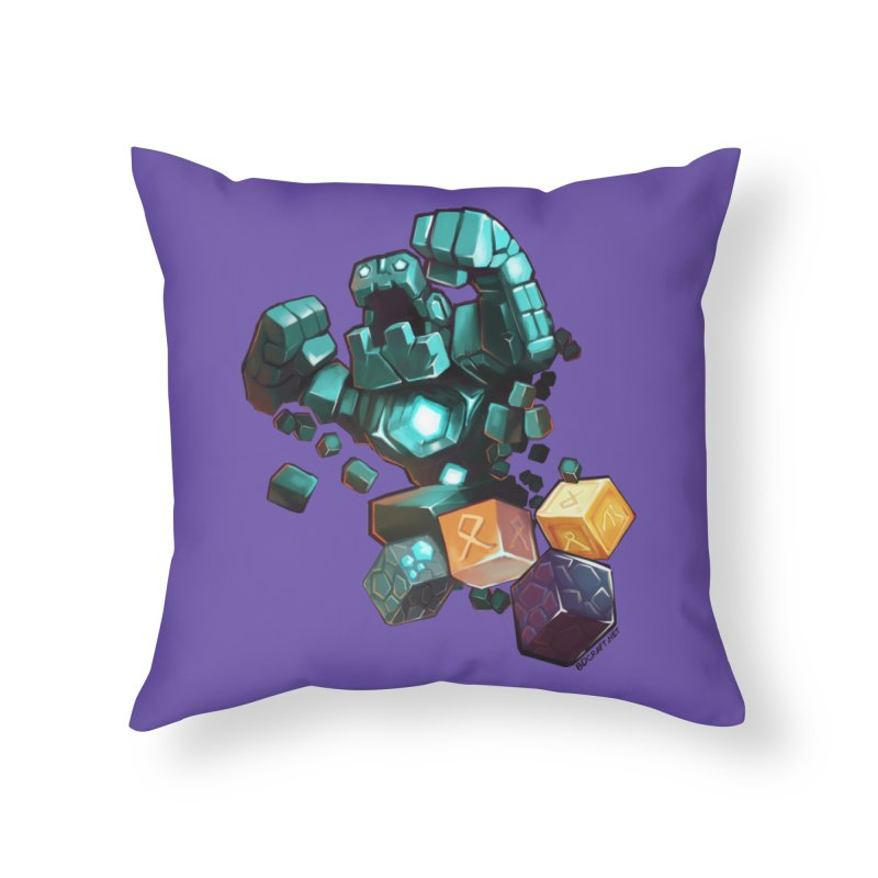 PureBDcraft Golem Home Throw Pillow by BDcraft Shop