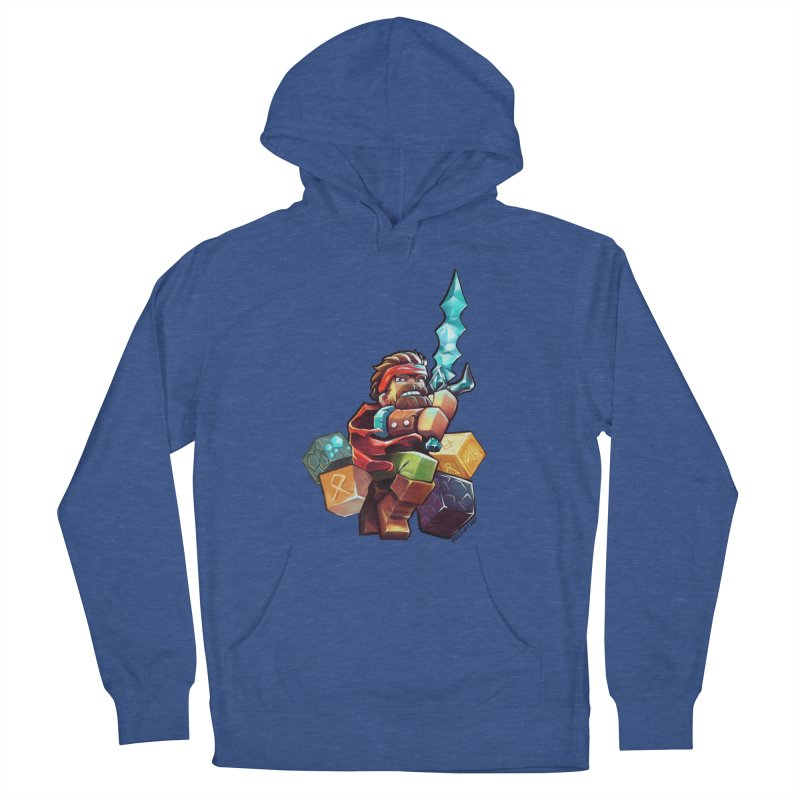 PureBDcraft Hero Men's French Terry Pullover Hoody by BDcraft Shop