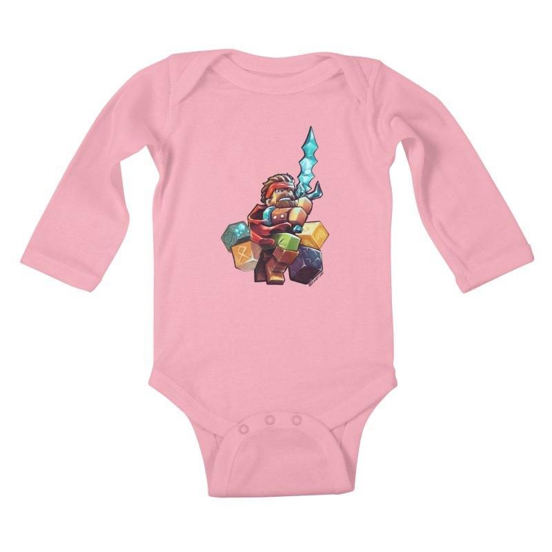 PureBDcraft Hero Kids Baby Longsleeve Bodysuit by BDcraft Shop