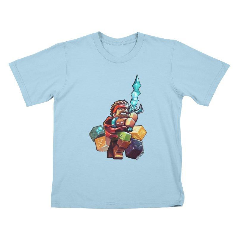 PureBDcraft Hero Kids T-Shirt by BDcraft Shop