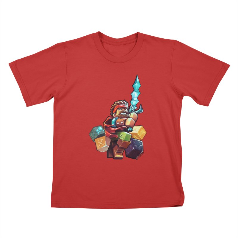 PureBDcraft Hero Kids T-Shirt by BDcraft Shop
