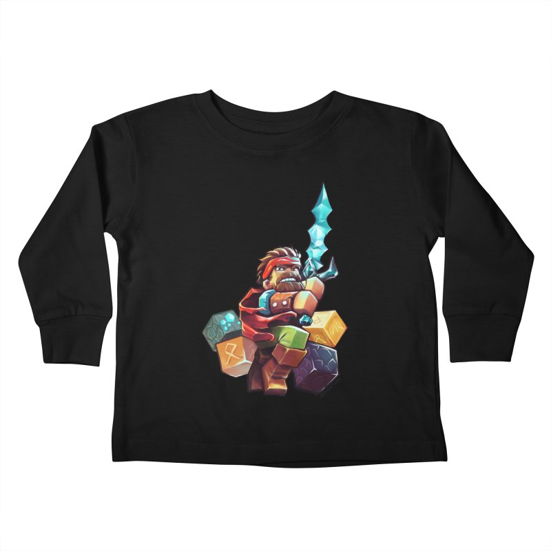 PureBDcraft Hero Kids Toddler Longsleeve T-Shirt by BDcraft Shop