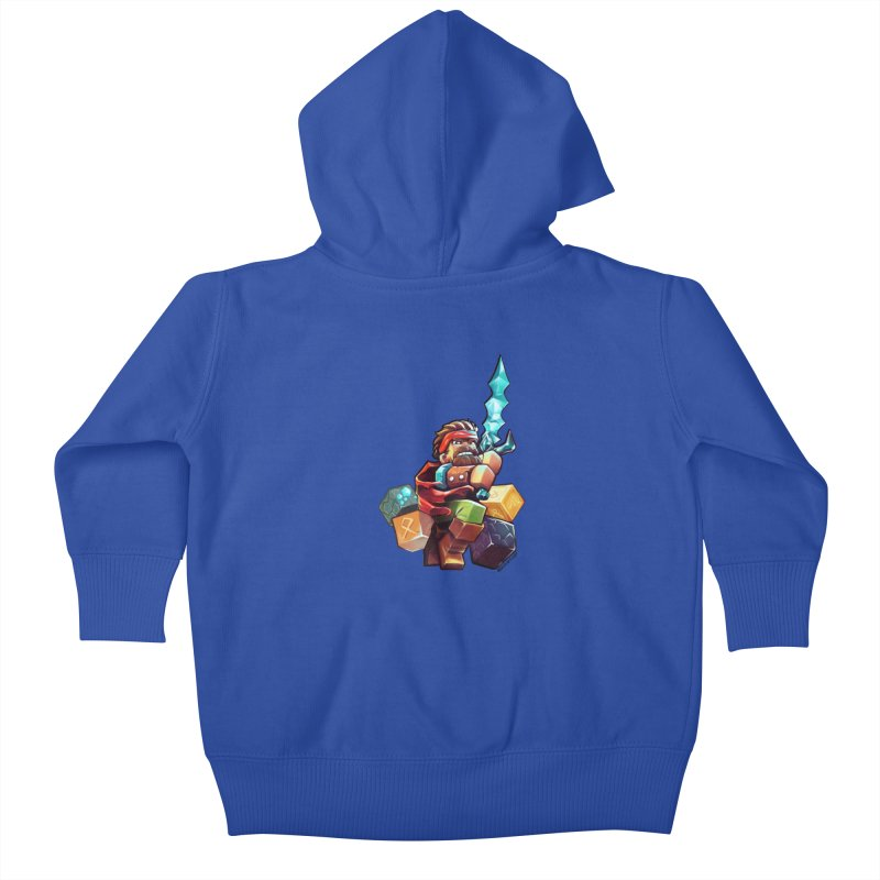 PureBDcraft Hero Kids Baby Zip-Up Hoody by BDcraft Shop