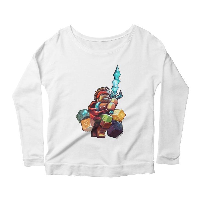 PureBDcraft Hero Women's Scoop Neck Longsleeve T-Shirt by BDcraft Shop