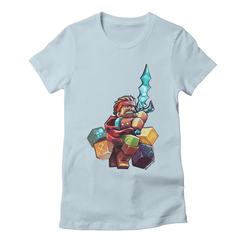 PureBDcraft Hero Women's Fitted T-Shirt by BDcraft Shop