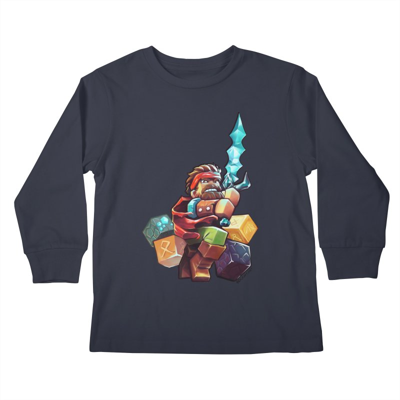 PureBDcraft Hero Kids Longsleeve T-Shirt by BDcraft Shop