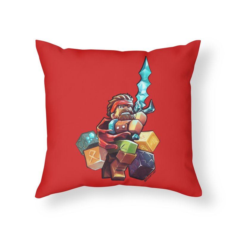 PureBDcraft Hero Home Throw Pillow by BDcraft Shop