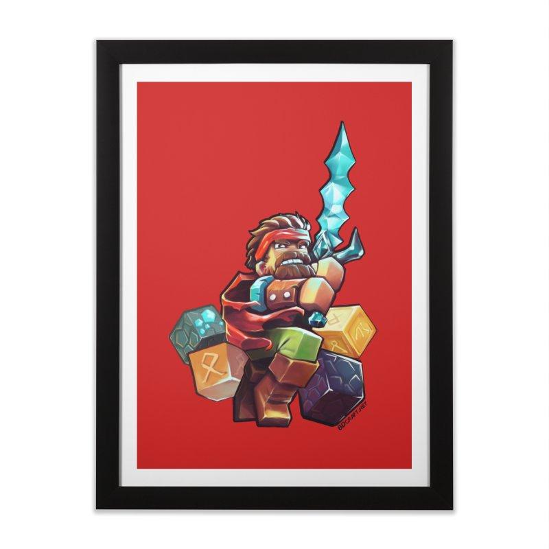 PureBDcraft Hero Home Framed Fine Art Print by BDcraft Shop
