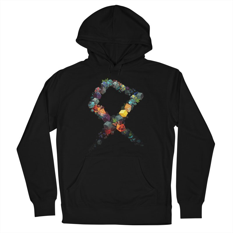 BDcraft Rune of blocks Men's French Terry Pullover Hoody by BDcraft Shop