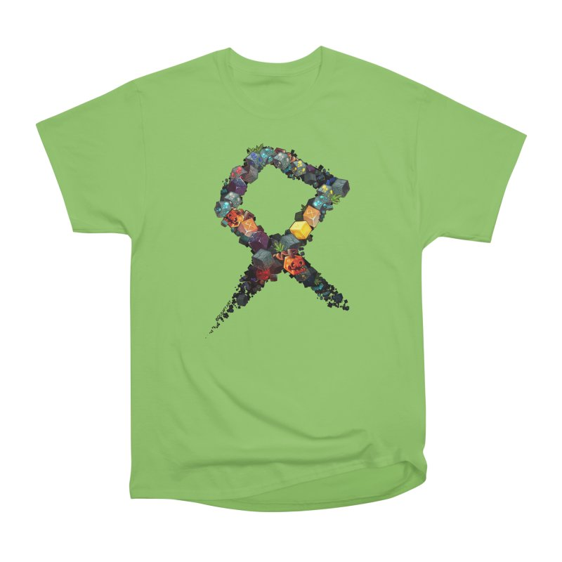 BDcraft Rune of blocks Men's Heavyweight T-Shirt by BDcraft Shop