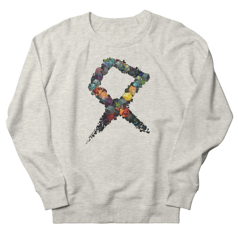 BDcraft Rune of blocks Men's French Terry Sweatshirt by BDcraft Shop