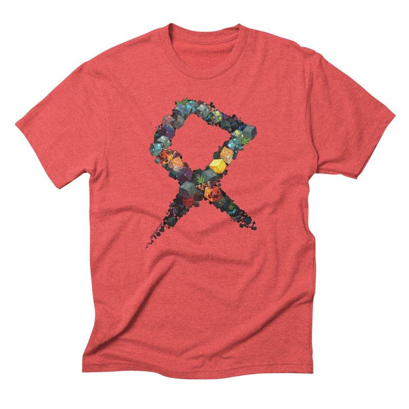 BDcraft Rune of blocks Men's Triblend T-Shirt by BDcraft Shop
