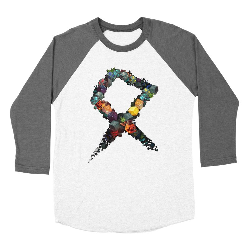 BDcraft Rune of blocks Women's Baseball Triblend Longsleeve T-Shirt by BDcraft Shop