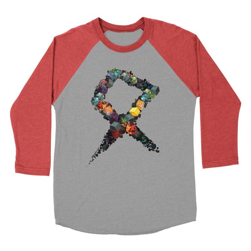 BDcraft Rune of blocks Women's Baseball Triblend Longsleeve T-Shirt by BDcraft Shop